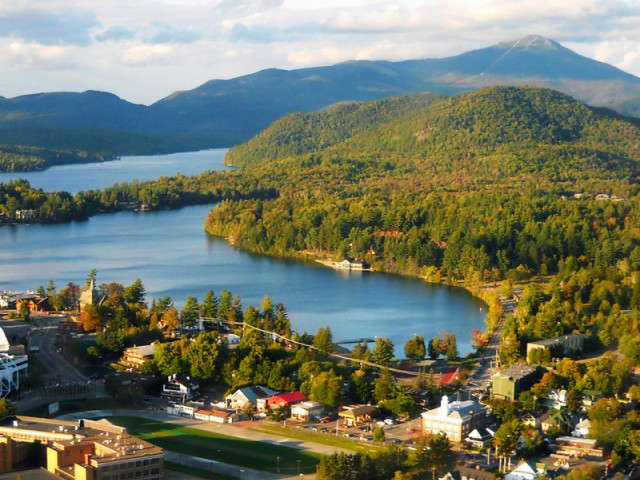 A look at Mirror Lake in Lake Placid New York