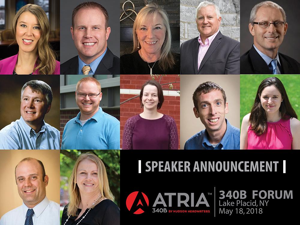 Headshots of all speakers for the 340B program
